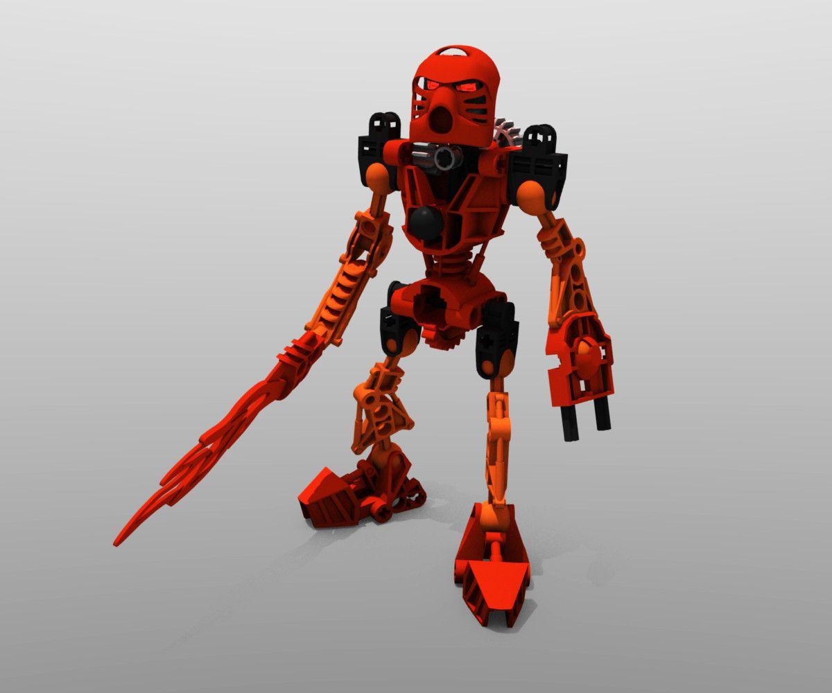 3D Lego Bionicle Tahu 3D Model Bionicle, Lego bionicle