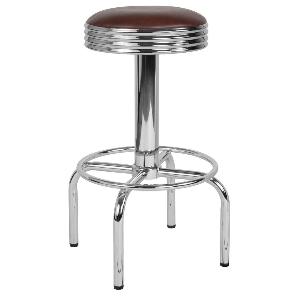 Awesome Flash Furniture 28 In Bar Height Brown Bar Stool Products Cjindustries Chair Design For Home Cjindustriesco