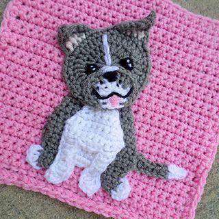 Photo of Pitbull Patch pattern by Jenna Wingate