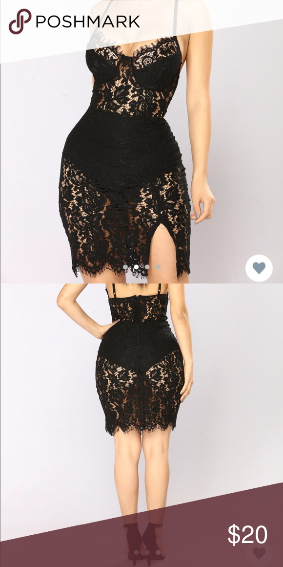 728758ee429 Fashion Nova  Dropping Hints Lace Dress Black lace dress with adjustable  straps