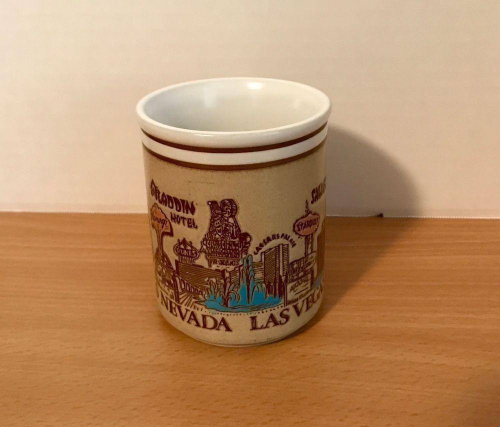 Vintage Las Vegas Coffee Cup S Stardust Sahara Aladdin Dunes Flamingo Mug