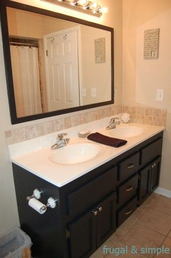 Attirant Nice Bathroom Upgrade   Wonder If We Could Just Paint The Builders Grade  Stuff We Have