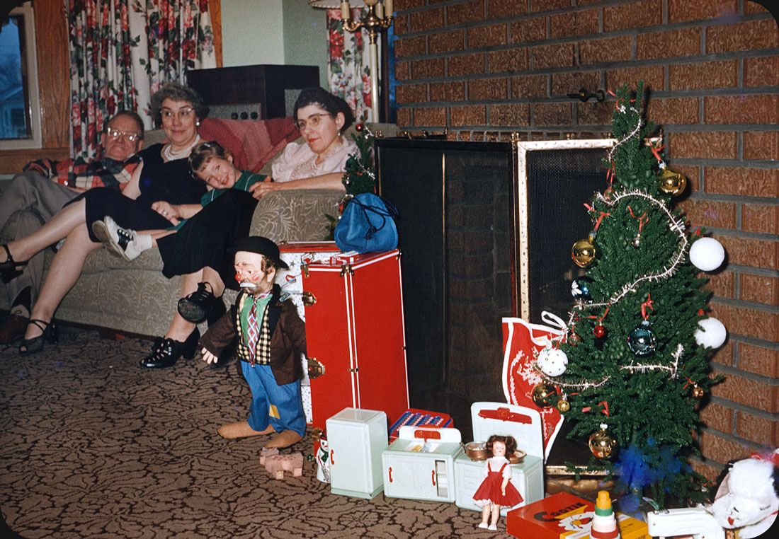 1950s family christmas photographs - Google Search