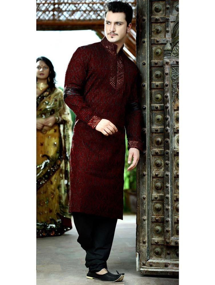 052b550a8e Designer Indian & Pakistani Stitch Work Kurta Pajama Wedding Kurta Payjama # BharatPlaza #KurtaPayjama Price:US $98.00