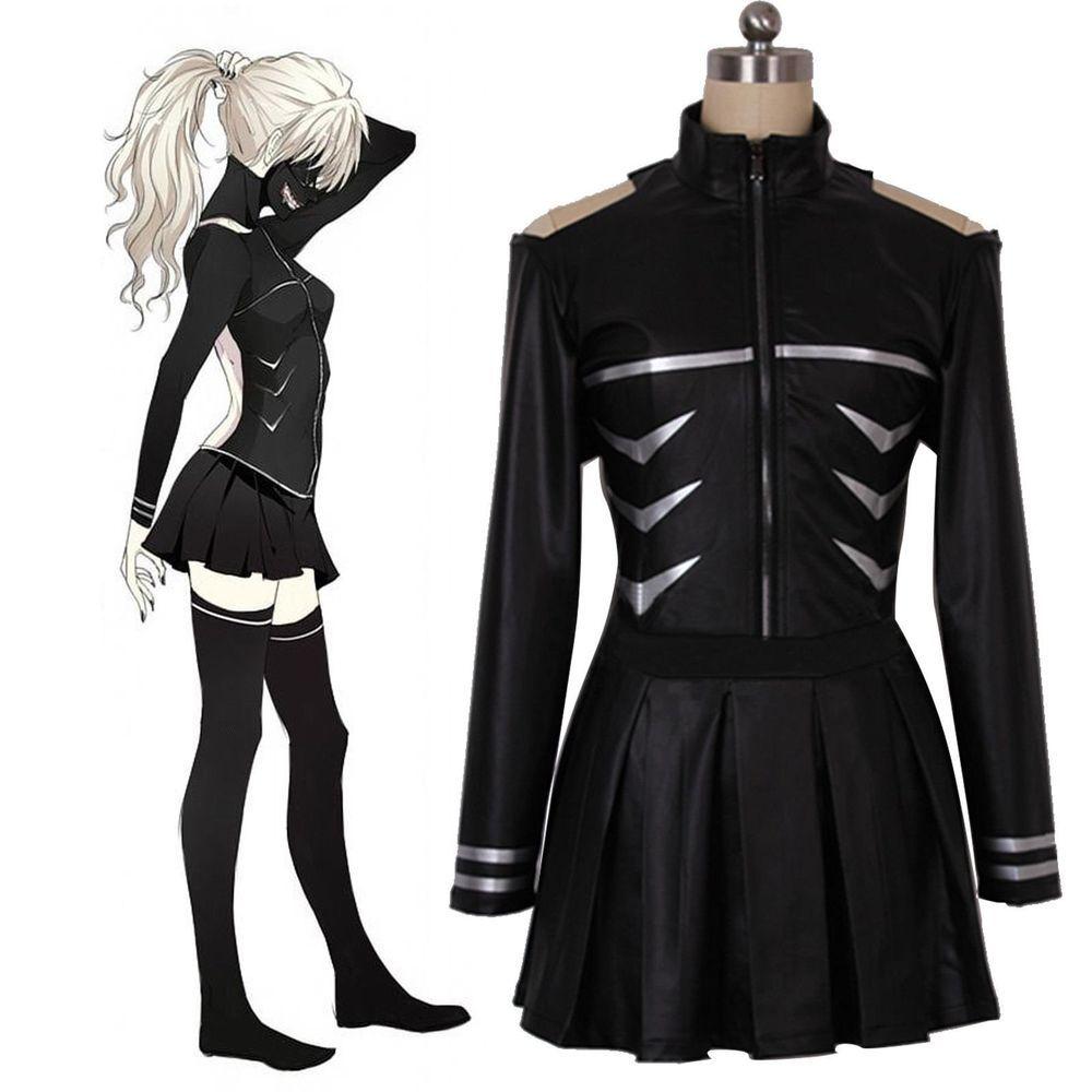 Details about Tokyo Ghoul Kaneki Ken Genderbend Fight Uniform Cosplay Costume Leather Dress