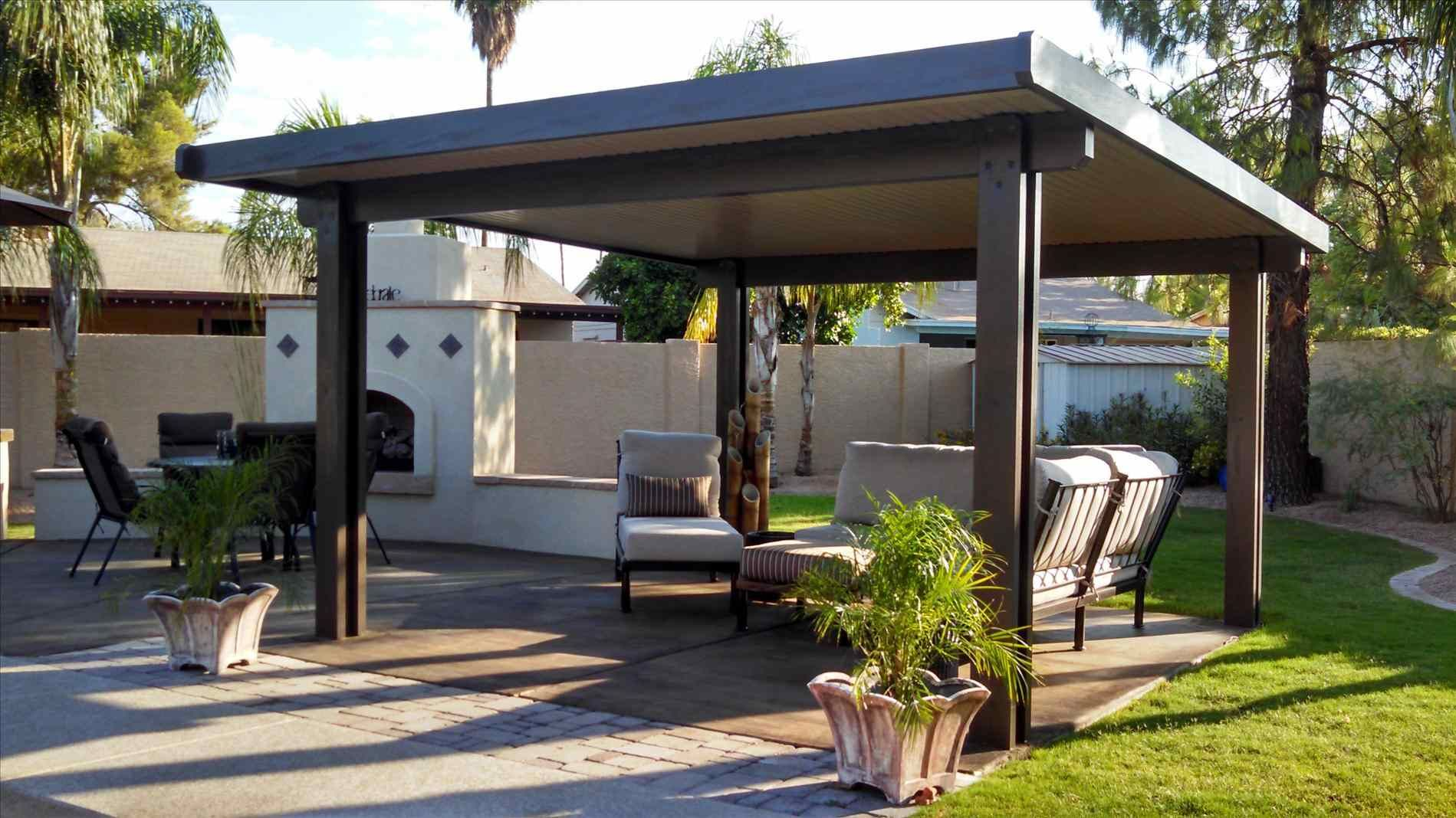 Free Standing Patio Roof Designs