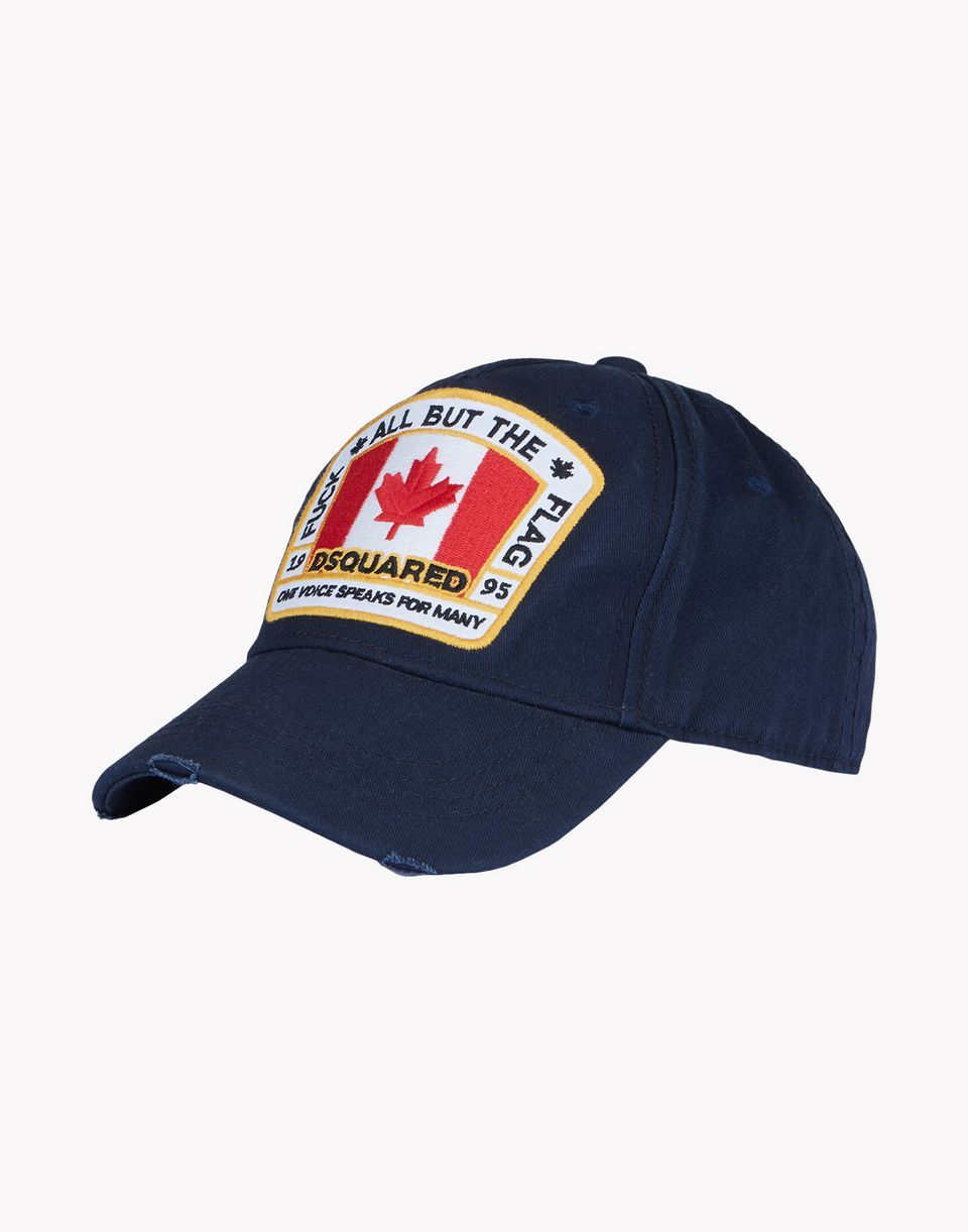 Canadian patch baseball cap - Blue Dsquared2 azlReh