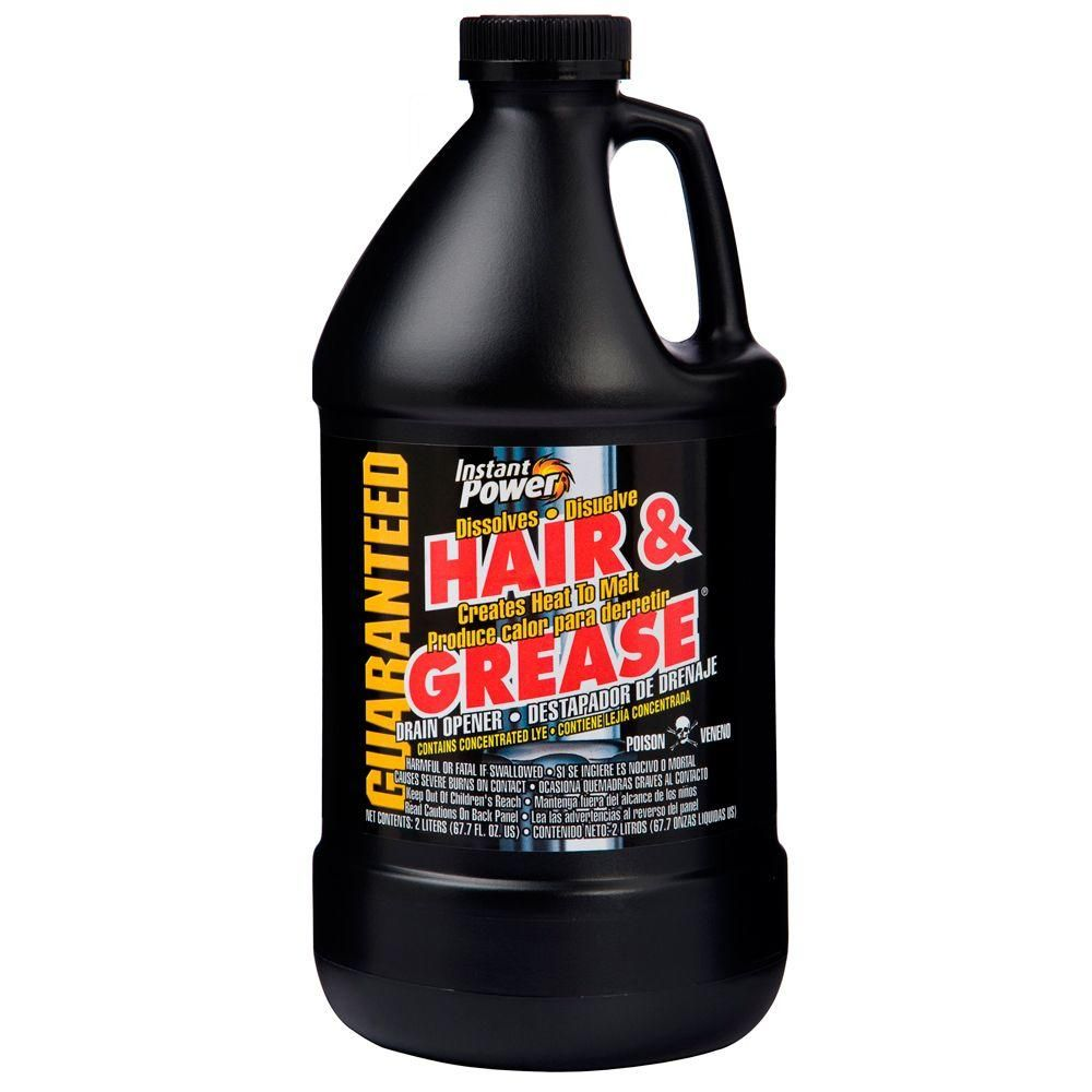 Instant Power 67 6 Oz Hair And Grease Drain Opener 1970 The Home Depot Drain Cleaner Best Drain Cleaner Drain Opener