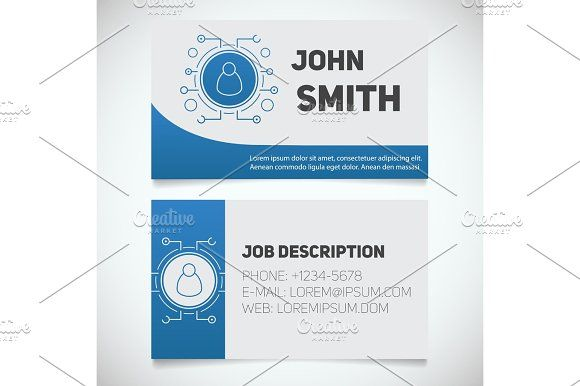 Business Card Print Template With User Logo Graphics Business Card