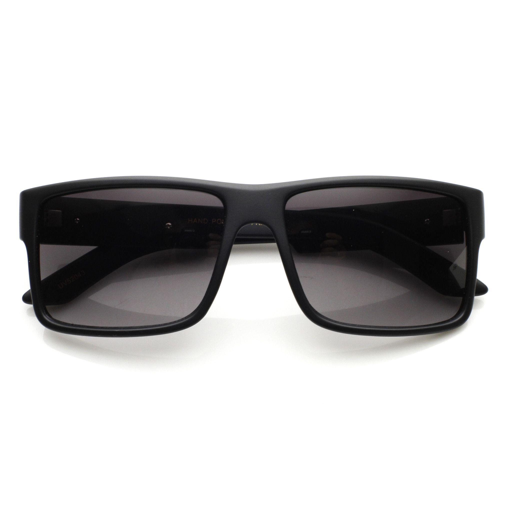 40e69ed321 Mens Premium Designer European Square Aviator Sunglasses 8866 | zeroUV
