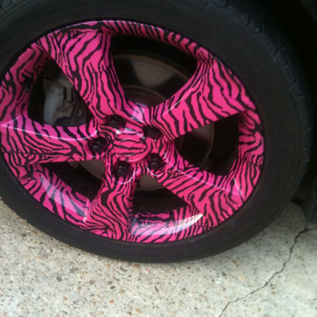 Zebra Rims ḫoṫ Pink Car Accessories Cool Car Accessories