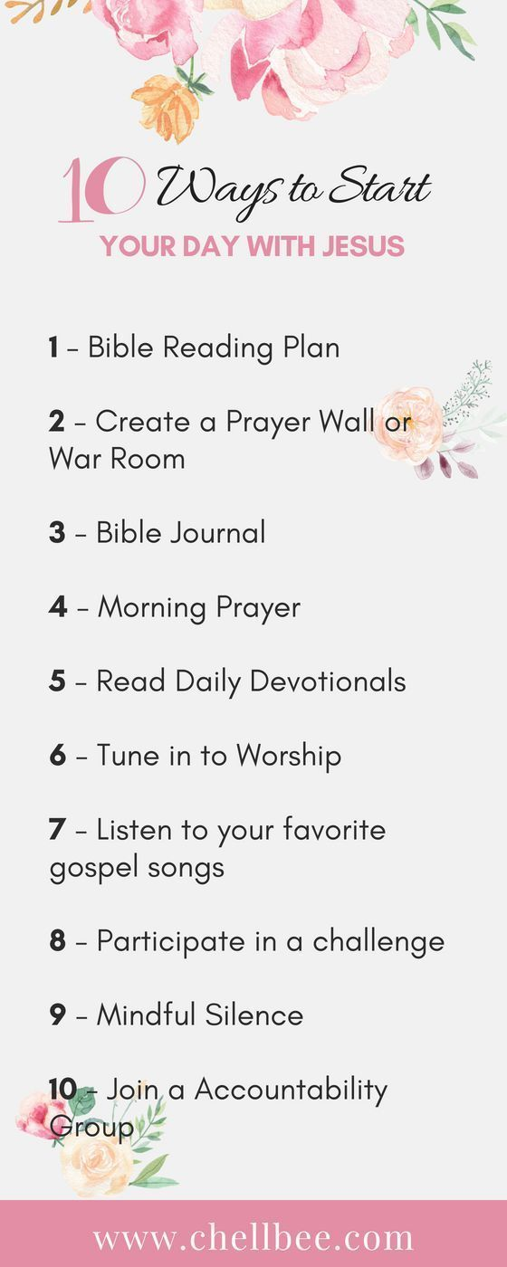 10 Ways to Start Your Day with Jesus