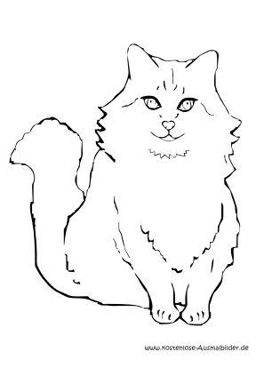 Ausmalbild Katze 4 | cats | Pinterest | Ausmalbilder katzen ...