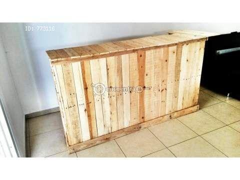 Barra para bar madera de palets la chorrera - Barras de madera para bar ...