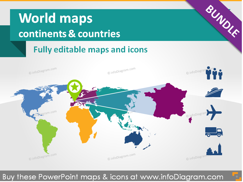 World maps continents countries population transport icons world maps continents countries population transport icons powerpoint template gumiabroncs Image collections