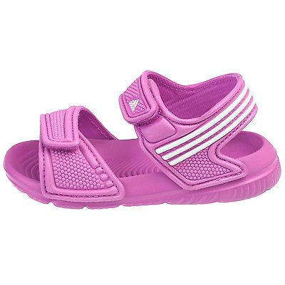 aaaa982de794 Adidas Akwah 9 Infant B40662 Pink White Strap Sandals Baby Girls Toddler  Size 7