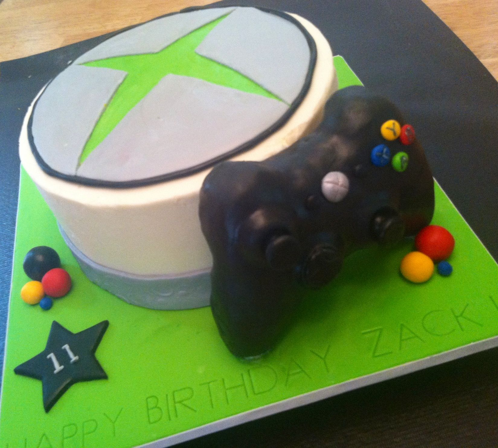 Xbox birthday cake recipe