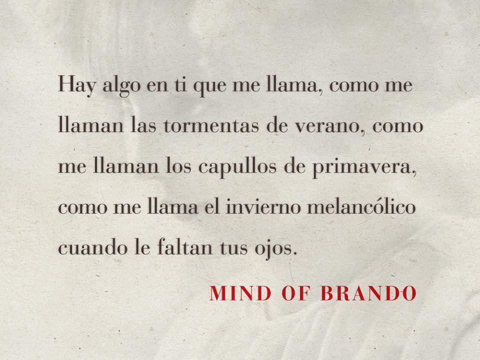 Cartas De Amor: Mind Of Brando - Cartas Al Tiempo