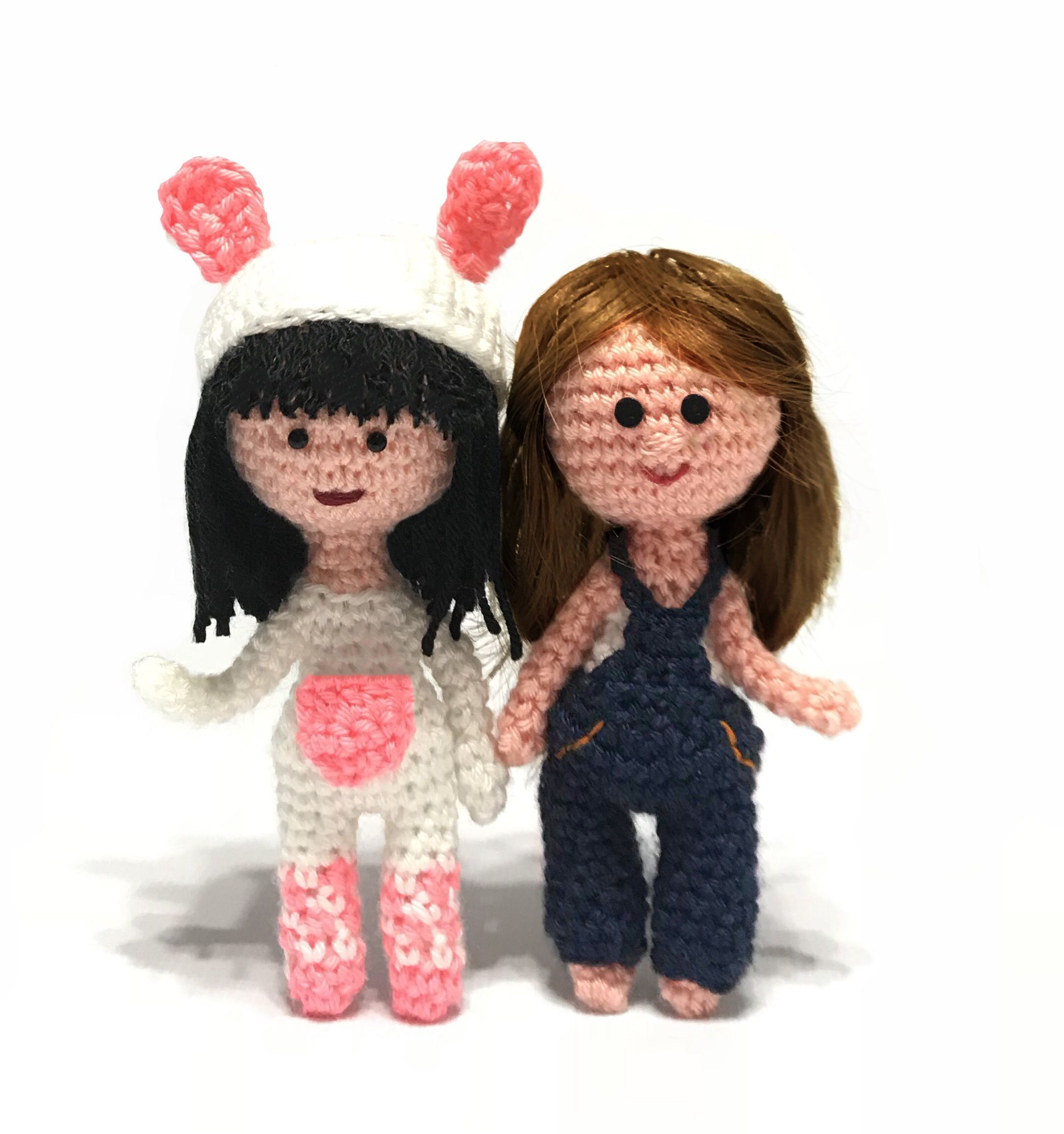 Amigurumi Crochet doll pattern: Milena in Pink clothes | 2291x2150