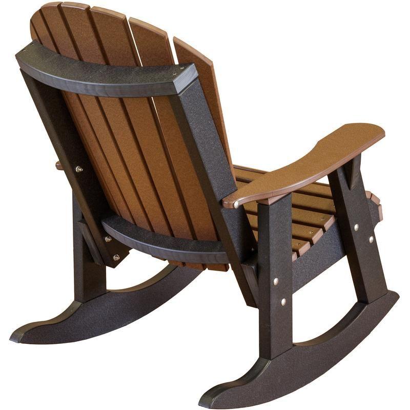 Little Cottage Polywood Adirondack Fanback Rocking Chair. Thick, Sturdy  Rocking Boards. 316 Marine