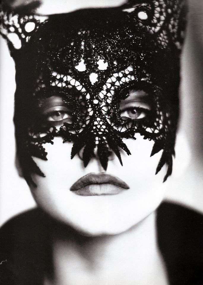 Image result for philip treacy black lace mask""