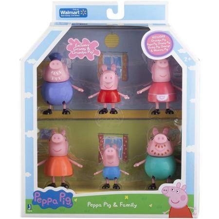Peppa Pig Family Figures 6 Pack Poppy Eleanor Masie Peppa Pig