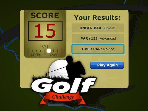 Golf Flash elearning game...