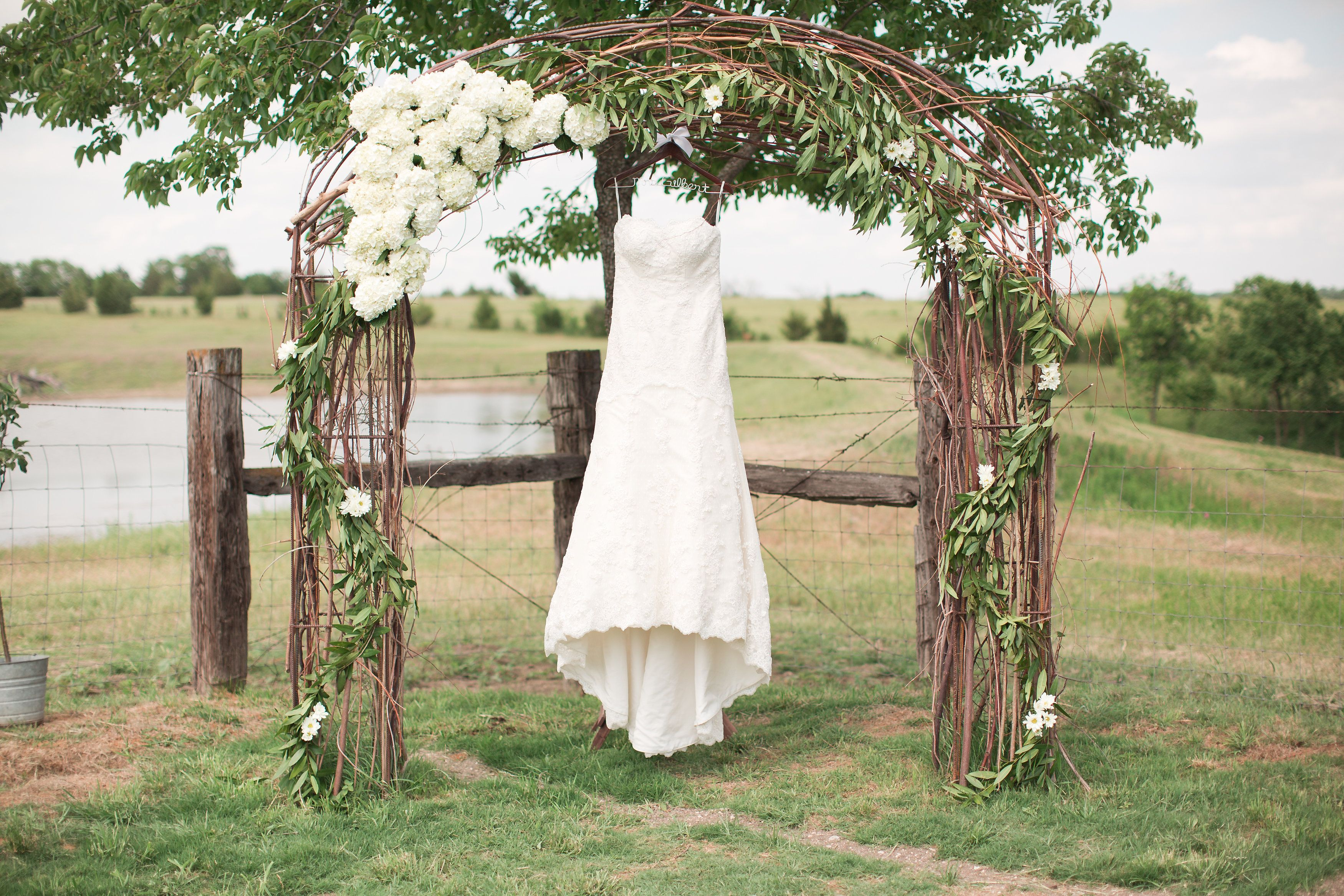 Rustic Wedding Arch With Flowers