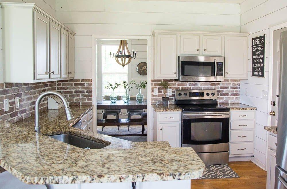 Update your kitchen with an Easy DIY Brick Backsplash