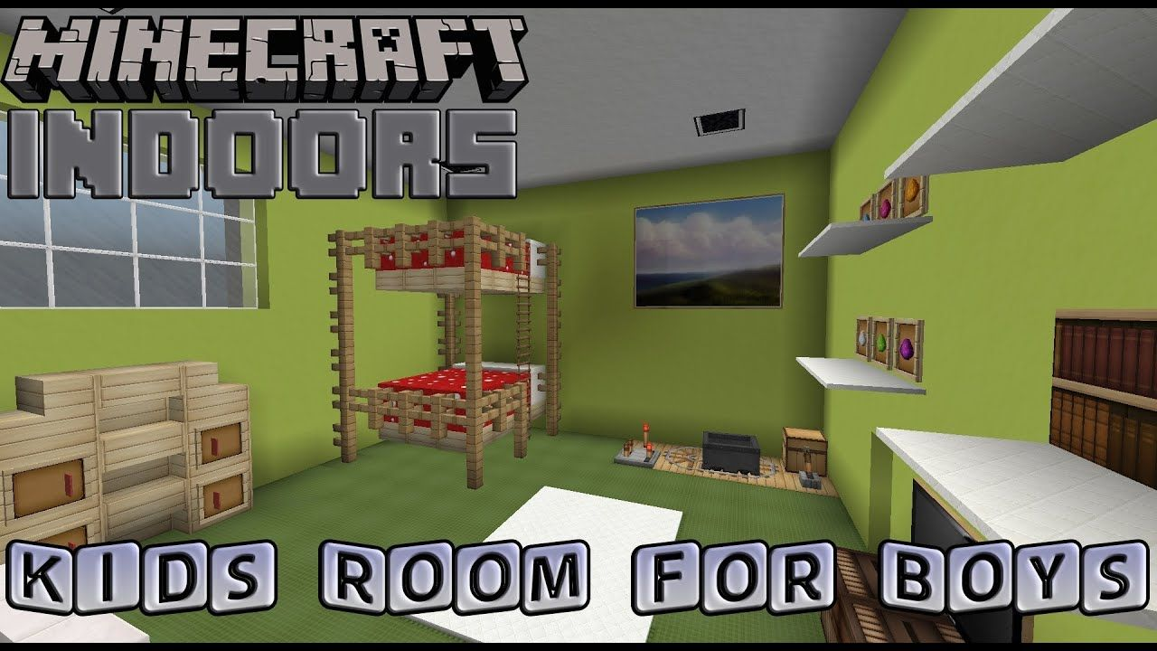 Kids Bedroom for Boys - Minecraft Indoors Interior Design ...