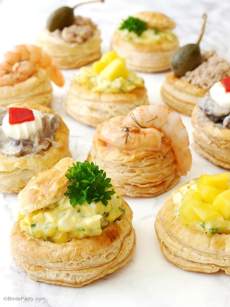 Retro vol au vent party recipe appetizers party for Canape pastry shells