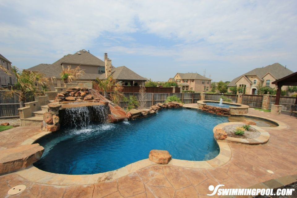 Swimming Pool With Beach Entry And Grotto Love That It Has A
