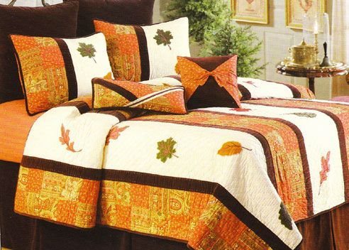Amazing bedding, with other great fall decor pictures too.  Inspiration!