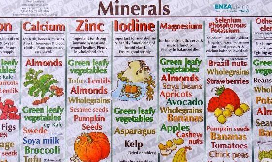 Vitamins Minerals Chart | Chicken | Pinterest | Vitamins ...