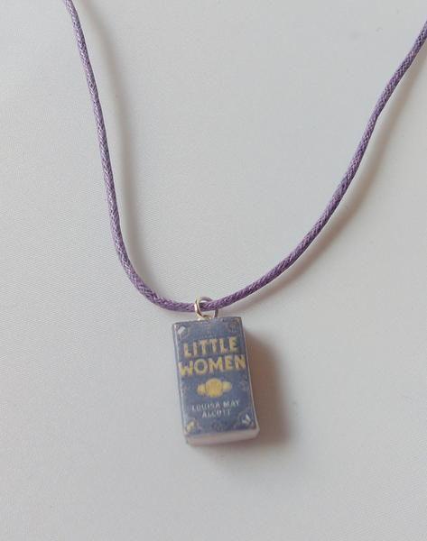 Little Women book necklace