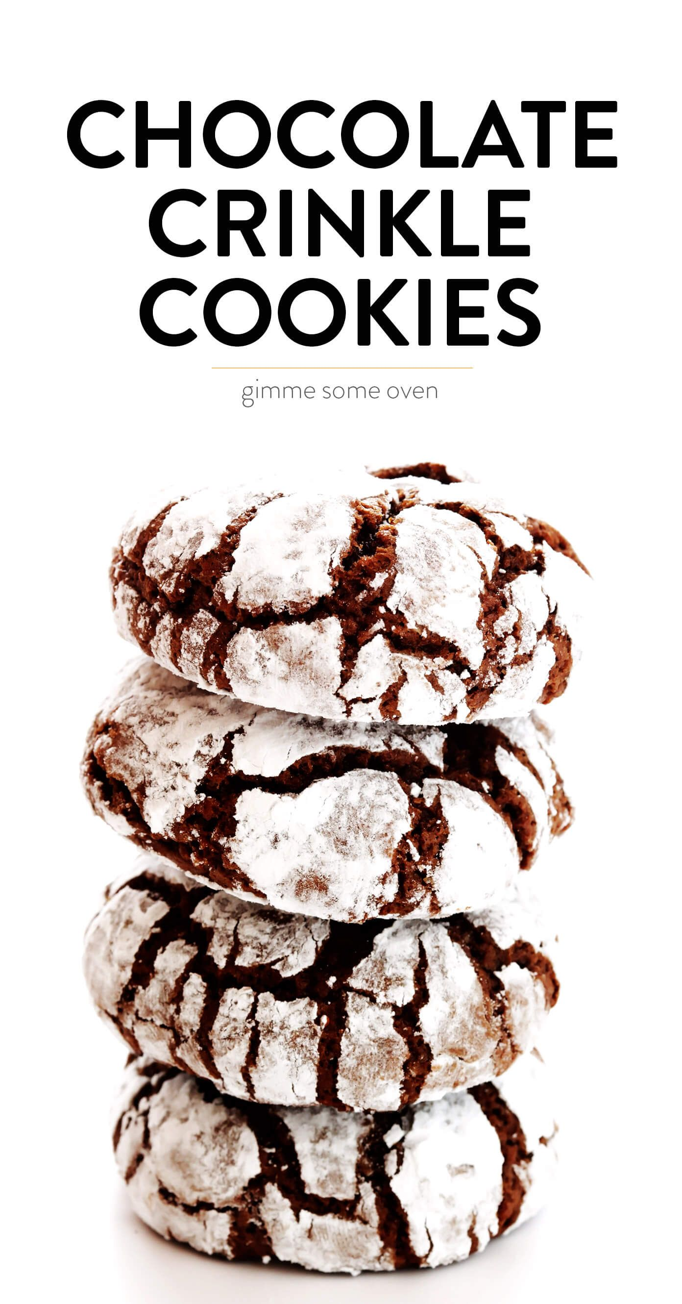 LOVE this chocolate crinkle cookies recipe Its easy to make super chocolatey and delicious and always perfect for the holidays  Gimme Some Oven