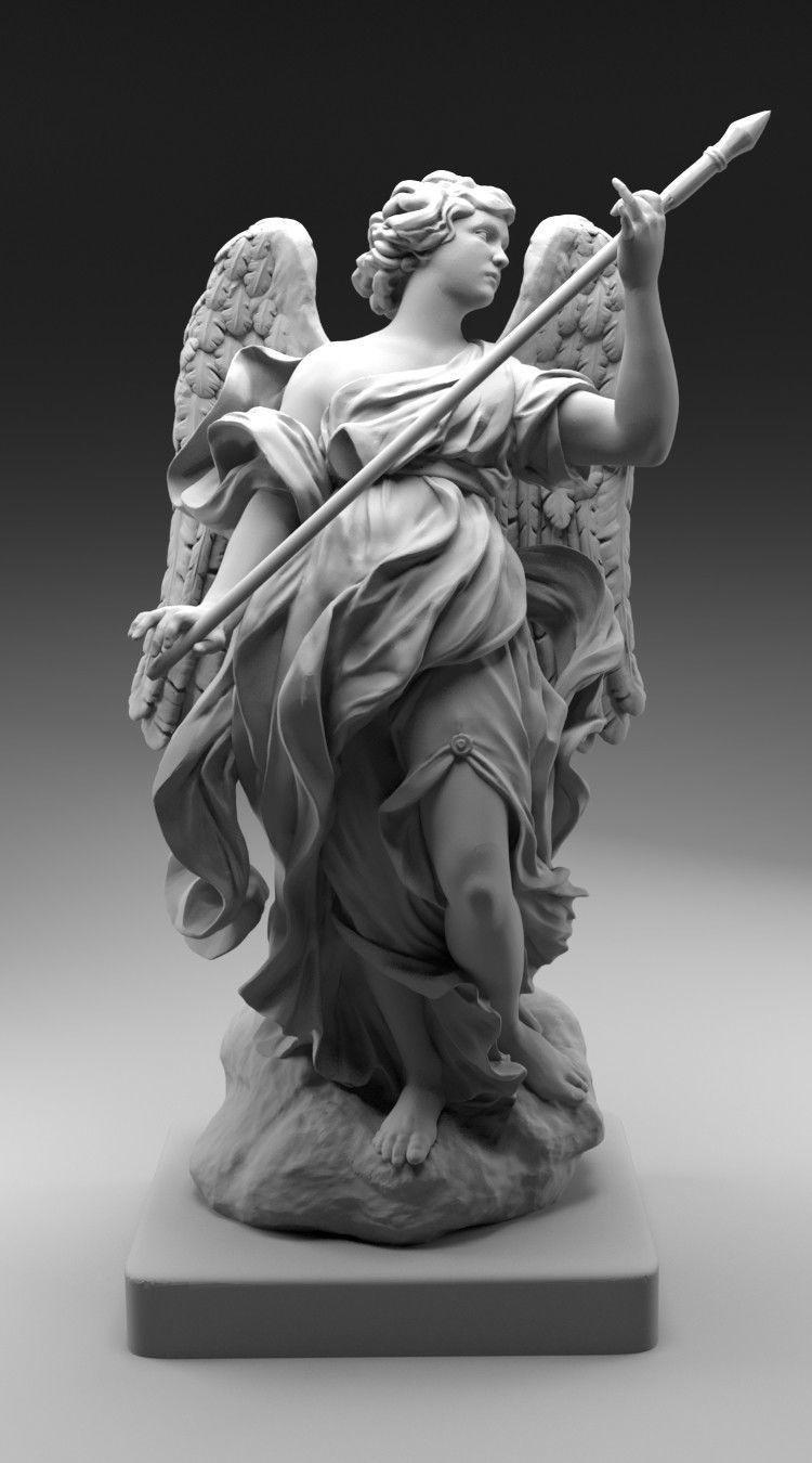 Angel Statue   3D Print Model
