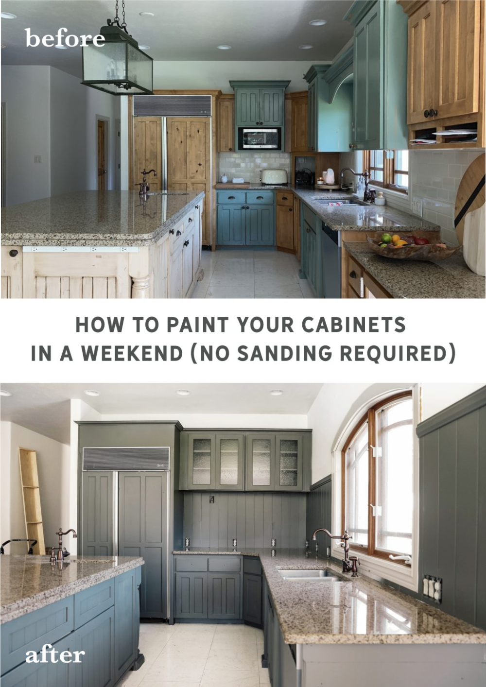How To Paint Your Cabinets In A Weekend Without Sanding Them Kitchen Decor Inspiration Boho Kitchen Kitchen Paint