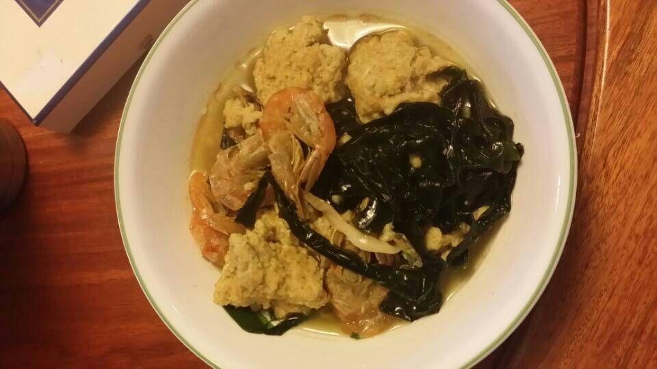 私房小菜:前两天问Oats 菜谱,今天做了oats 面疙瘩,上来汇报一下。 - 由MarkL发表 - 文学城