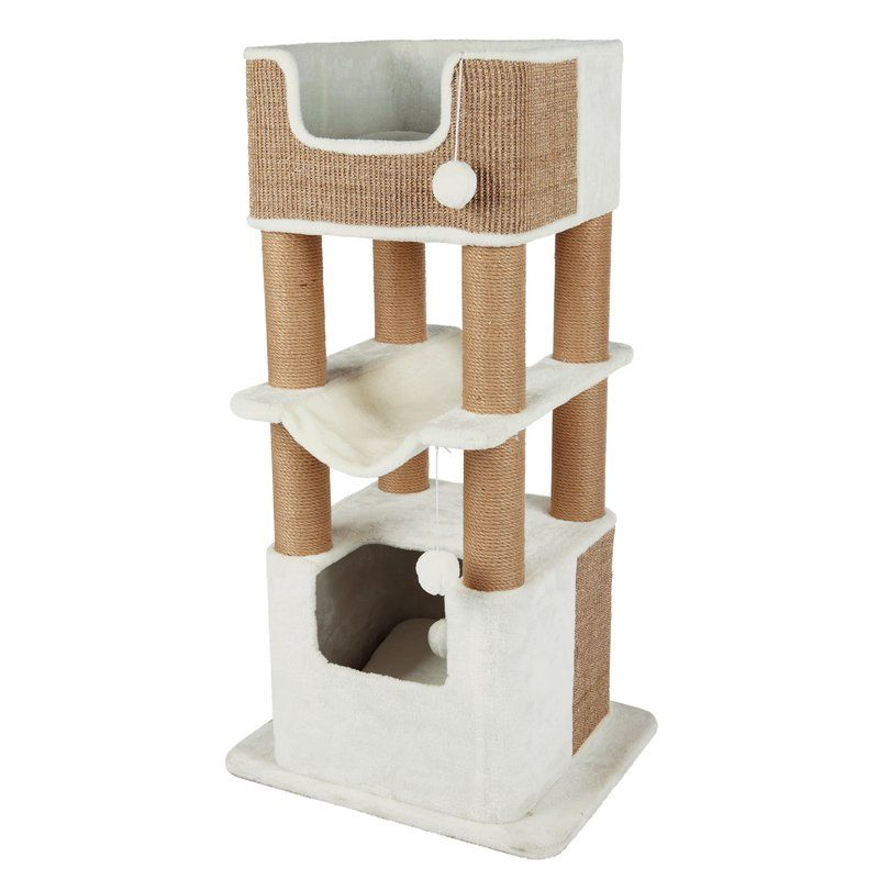 The Lucano Scratching Post Is Ideal For Multiple Large Cats This Multi Level Cat Playground Has Arranhador Para Gatos Acessorios Para Gatos Casas Para Animais