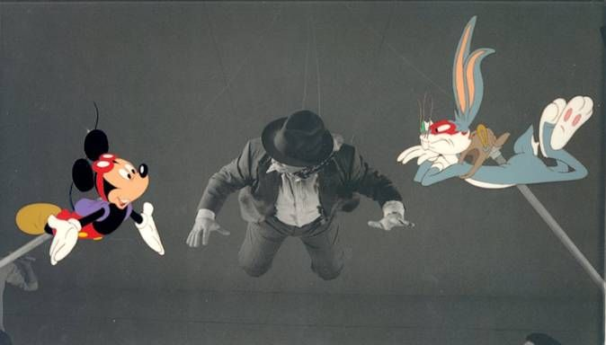 Production Cel from Who Framed Roger Rabbit Featuring Bugs Bunny and ...
