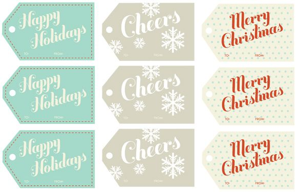 Resultado de imagen para minimal hang tags printables tags a super duper free printable holiday gift tag roundup negle Choice Image