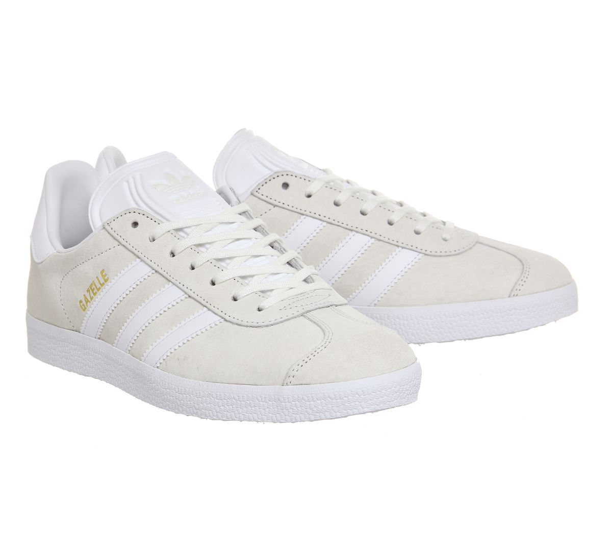 adidas Gazelles in Off White suede with White sole