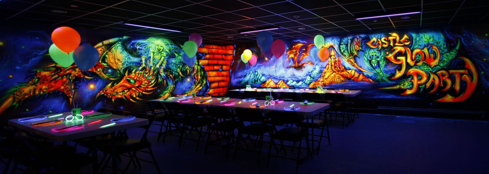 Glow Party Room At The Castle Fun Center In Chester NY Hudson Valley Orange County New York Amusement Park Thecastlefuncenter