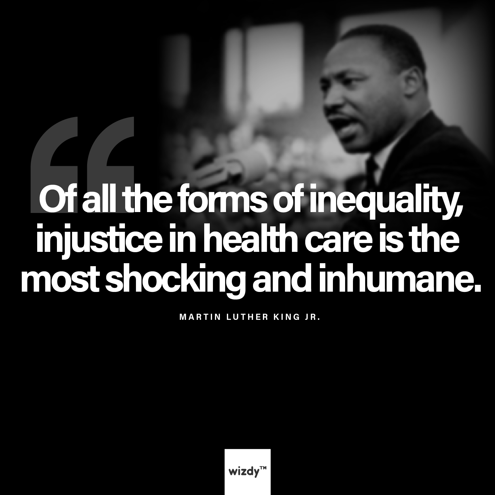 Health Care Quotes A Quote From Martin Luther King On Injustice In Healthcare