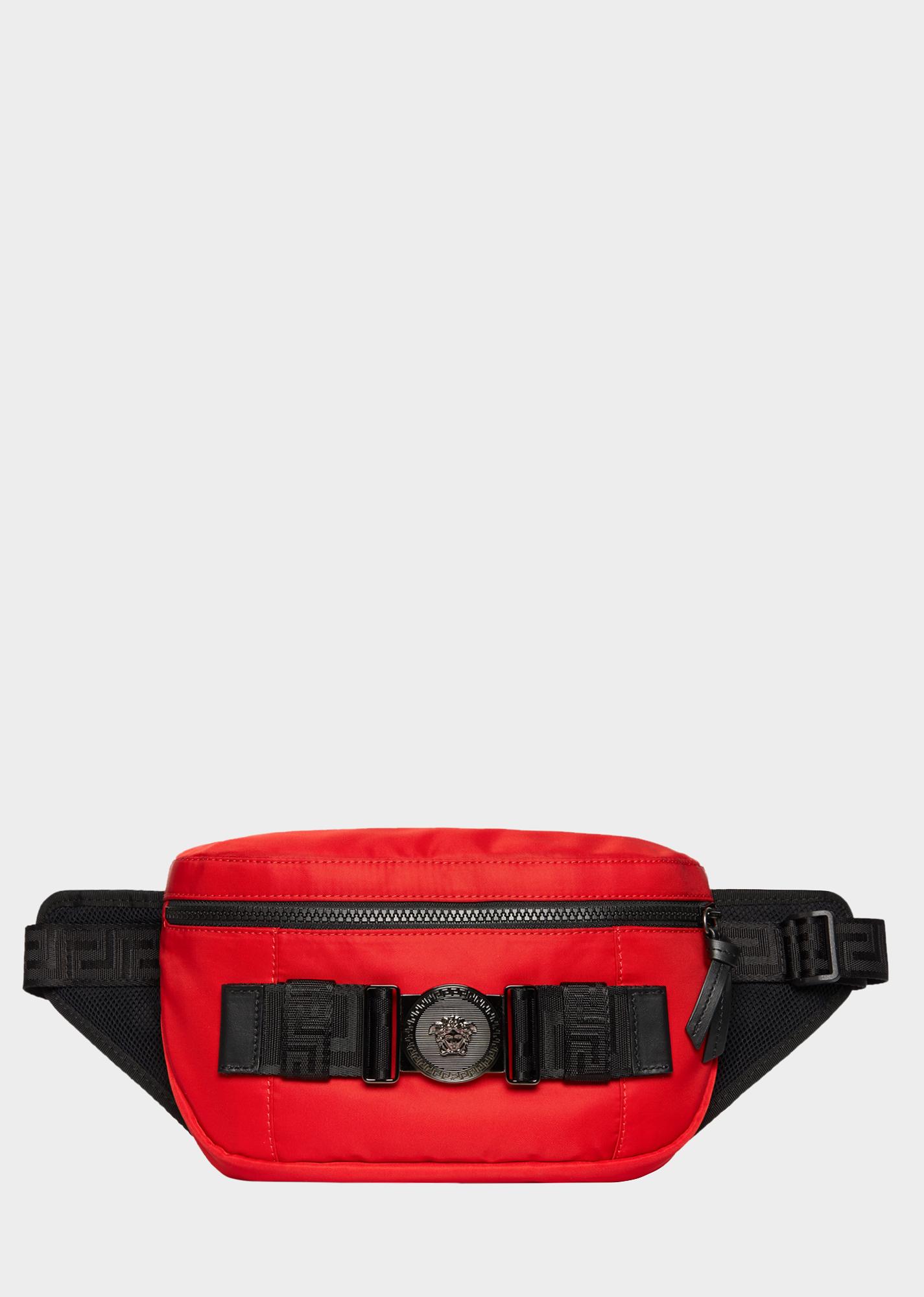 1e4649dcd VERSACE Greca Ribbon Belt Bag. #versace #bags #leather #belt bags #nylon  #lining