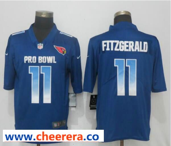 1dce3f9cd Nike NFC Cardinals 11 Larry Fitzgerald Royal 2019 Pro Bowl Limited Jersey