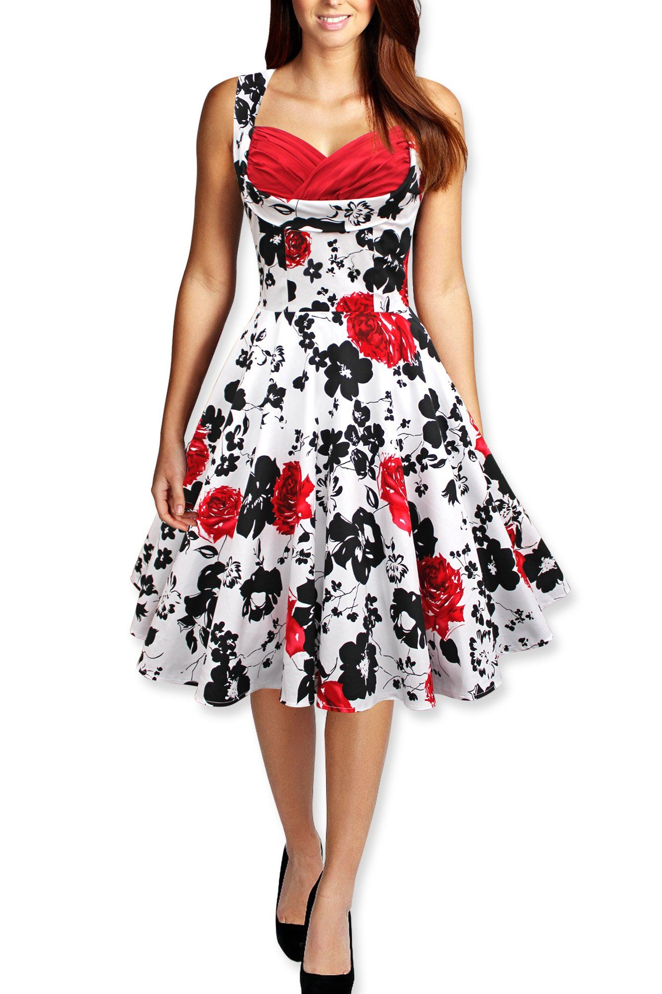 Black Butterfly Rockabilly Hochzeit Abschlussballkleid 1950 (40 ...