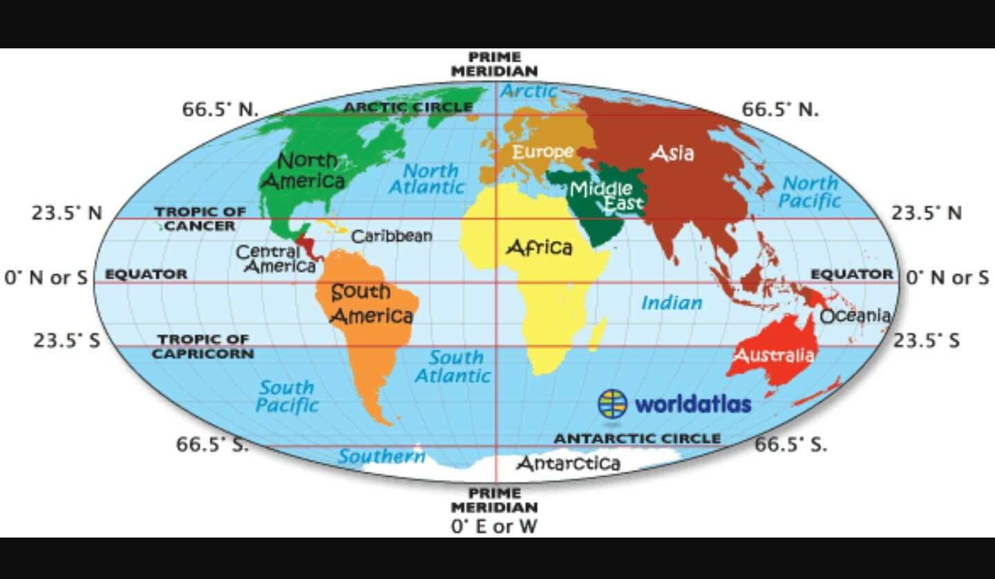 Pin by Tia Long on Archives, Maps | Equator map, Tropic of