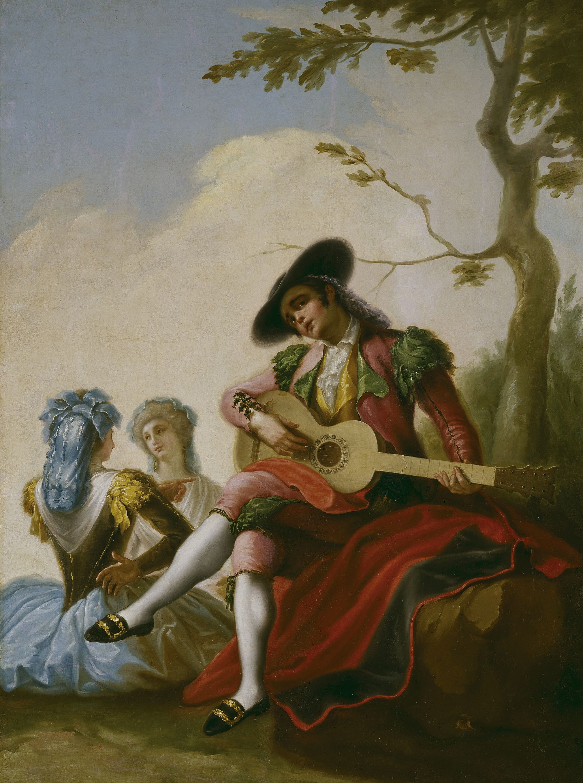 """""""El majo de la guitarra"""", Ramón Bayeu (ca.1786)"""